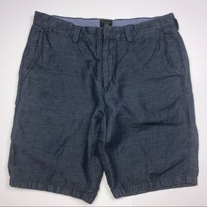 "J. CREW MENS BLUE SHORTS 33"" W 10.5 L"